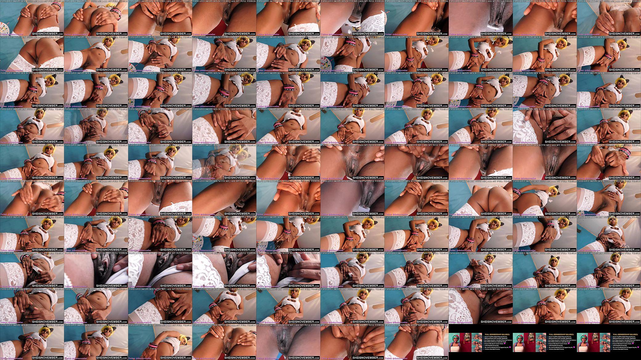 Sitting Ebenholz Face Squirt Gesichtssitzen •