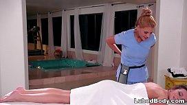 Tiffany Watson pretends to be a masseuse feat. Alina Lopez