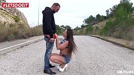 LETSDOEIT - Mea Melone Gets Caught Blowing a Stranger In Public