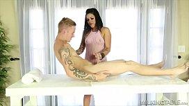 She sucked his cock through a table (Karmen Karma)