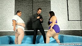Wrestling SSBBW pussyfucked by the referee
