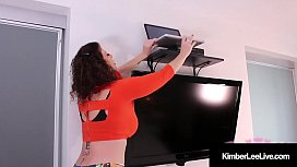 Horny Young Kimber Lee Dildo Bangs With Voyeur Watching All!