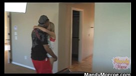 Petite Blonde Wife Takes Black Dick In Ass then Creampie