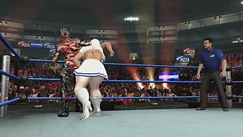 women wrestling