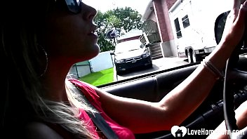 The son recorded his stepmom's feet while she was driving him around the block.