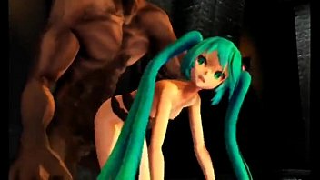 Hatsune miku destroyed by demon MMD-R18 80 sec