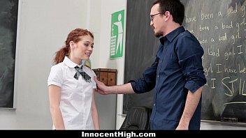 InnocentHigh - Slutty Schoolgirl (Alice Green) Seduces Her Teacher