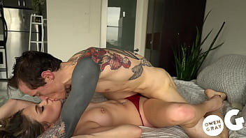 Amateur Athena Orgasms on Thick Cock and Takes Creampie