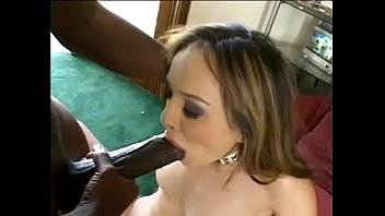 Black stud uses his huge tool to poke stunning white brunette babe