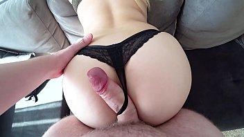 Big butt girl fucked through sexy thongs