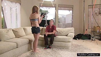 Nubiles Casting - Can he convince her to fuck on camera? 5 min