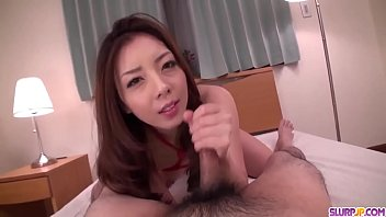 Maki Mizusawa hot scenes of home POV blowjob - More at Slurpjp.com