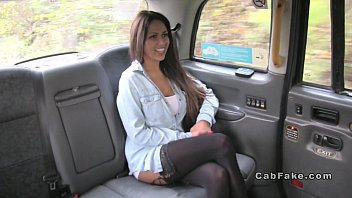 Busty Beauty Wanks And Deep Throats In Cab