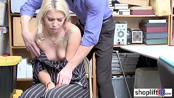 Hot blonde thief caught by a LP officer