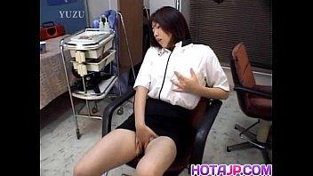Chiharu Okuna fucks her twat with vibrator