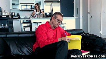 FamilyStrokes - Hot Milf (Carmen Valentina) Fucks Nerdy StepSon On Vacation