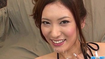 Yui Kasuga fucked with toys and jizzed on face 12 min