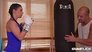 Athletic hot babes Angelica Heart and Inna Innaki cum hard at the gym