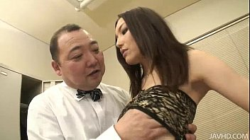 Nozomi Mashiro takes matters in hand as she bosses an old guy around 5 min
