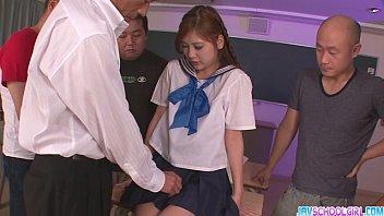 Schoolgirl Yura Kasumi is a hot japanese cum girl 8 min