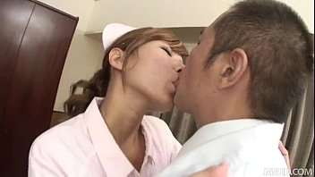 Raunchy Nurse Aoba gives her Doctor the blowjob of his lifetime