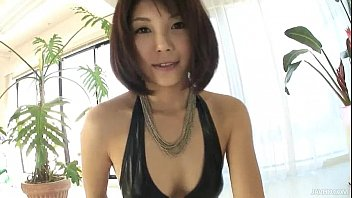 Lovely Azumi has a cock addiction and she has a full afternoon of cock sucking 5 min