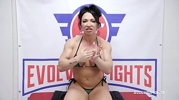 Brandi Mae CBT in nude wrestling fight then pegging loser