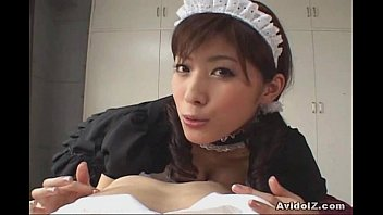 Horny Japanese Maid give the best blowjob ever (uncensored) 7 min