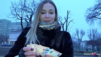 GERMAN SCOUT - BLUE EYES POLINA SEDUCE TO ASS FUCK FOR CASH AT FAKE MODEL JOB