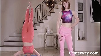 Teen Yoga Rivals Fuck In The Heat Of The Moment