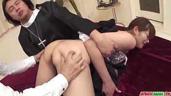Hitomi Kanou removes the nun costume to fuck hard  - More at Japanesemamas com 12 min