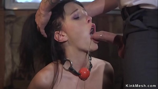 Sexy brunette gets throat fucked sex quality pic