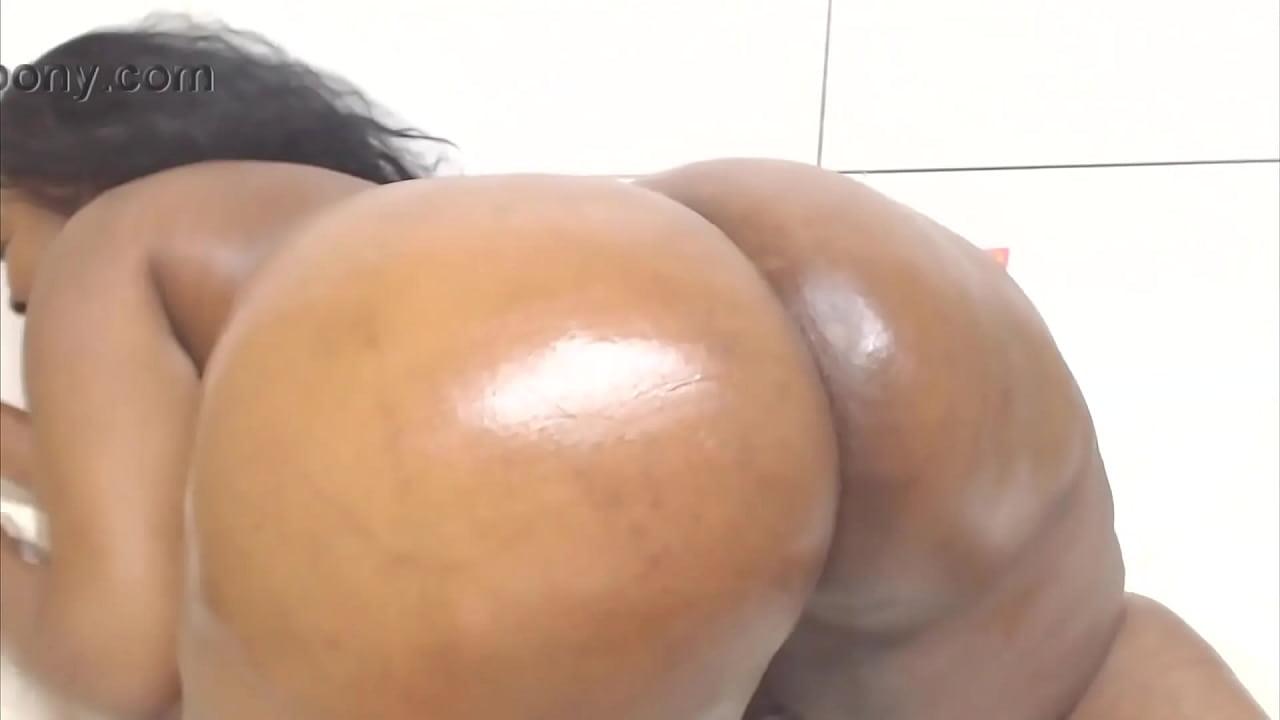 Ebony Bbw Anal Dildo