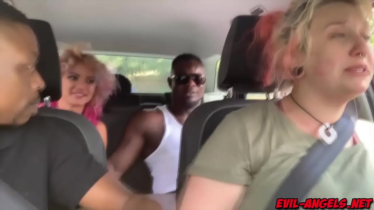 Whimpering Cherry gives road head sucking and then riding dick as director Proxy Paige drives