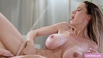 Busty milf makes her latina teen stepdaughter s...