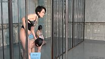 Japanese dominatrix bought boar and sow slaves