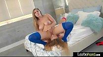 Lesbians Lena Paul & Alex Blake with round big ...