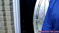 Teen babysitter gets pussy ploughed and face cu...