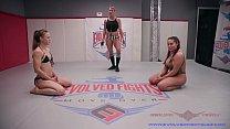Lesbian Nude Wrestling Cheyenne vs Jasmeen winner fucks loser roughly at EvolvedFightsLez Thumbnail