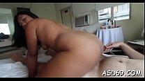 Slender thai girl gives an oral-sex