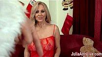Busty Milf Julia Ann is ready to celebrate Chri...