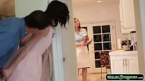 Stepdad distracts his stepteen because her mum ...