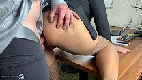 boss takes use of his hot secretary and give it...