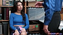 brunette teen thief with petite body and beauti...