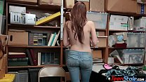 Young redhead suspect with huge boobs banged by...
