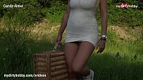 MyDirtyHobby - Hot busty babe has some alone ti...
