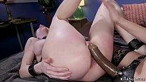Blonde lesbian mistress Mona Wales otk spanks b...