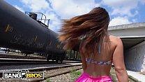 BANGBROS - Kelsi Monroe Cums And Rides The Train