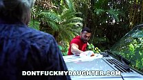 DON'T FUCK MY DAUGHTER - While Dad Is_Not Looking, She's Getting Railed Thumbnail