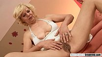 Hairy Grandma pussy fucked deep and fast